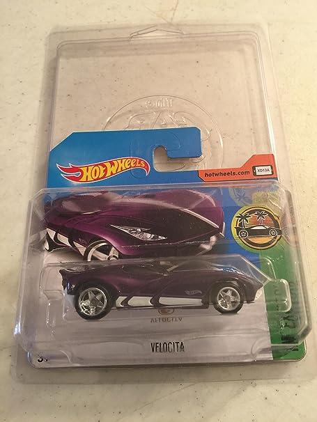 Amazon.com: 2017 Hot Wheels Super Treasure Hunt Velocita Purple [(Short) International Card] VHTF: Toys & Games