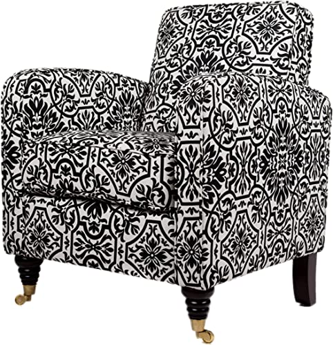 angelo HOME Grant Chair Black and White Damask