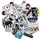 BTS Stickers Luggage Case Skateboard Guitar Laptop Cell Phone Travel Door Car Bike Bicycle Stickers (BTS-53PCS)