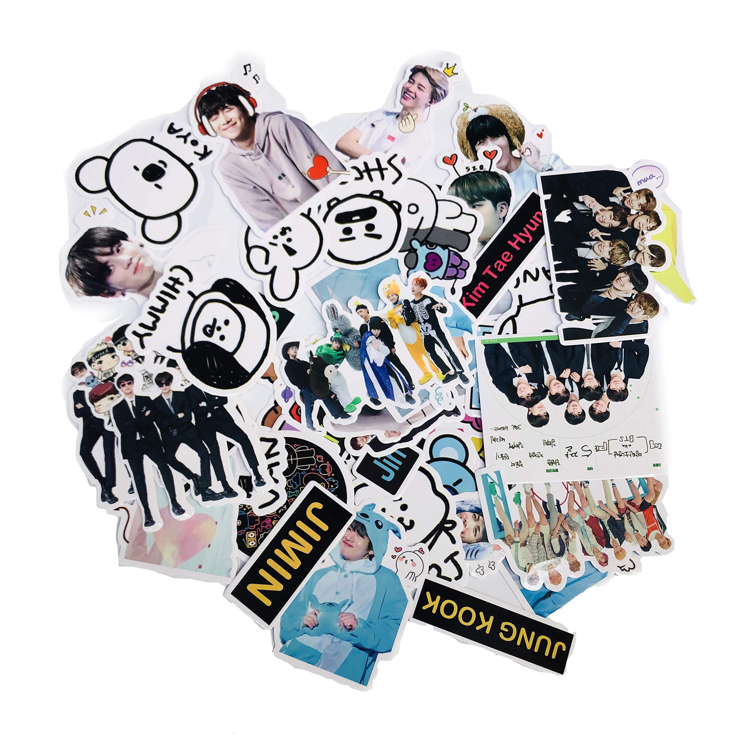 Stickers Calcos 53 Un. Kpop Bts Origen U.s.a. (7mdglhsj)