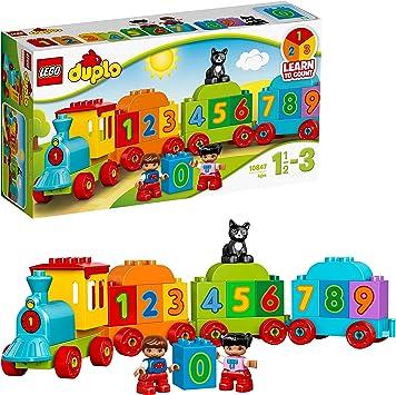 Oferta amazon: LEGO DUPLO - Mi Primer Tren de los Números, Juguete Preescolar Educativo de Aprendizaje y Construcción para Niños y Niñas de 1 Año y Medio a 3 Años con Muñecos y Piezas de Colores (10847)