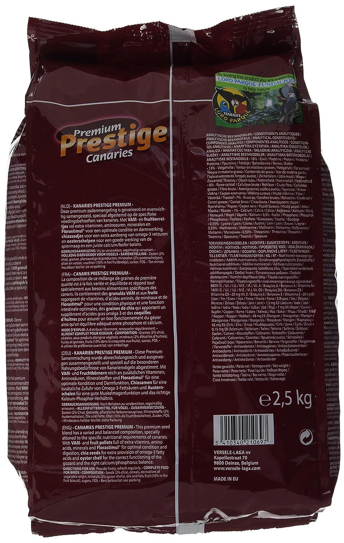 Versele Laga Prestige Premium - Comida canaria (2,5 kg): Amazon.es: Productos para mascotas