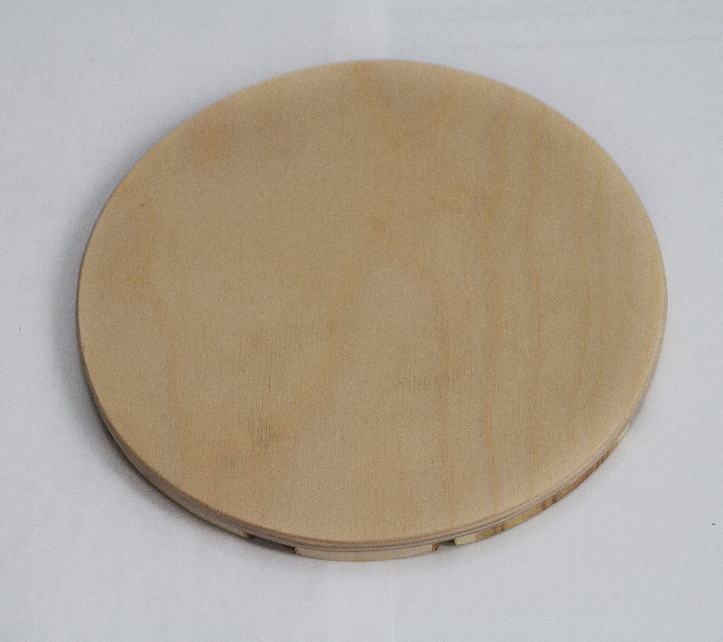 Handmade Wooden Trivet for Hot Dishes - 7.5 Inch. - Big Coaster - 6 Sorts of Wood - Natural Smell - Unique Art Decor in the Kitchen - Made by SPL Woodcraft Ukraine by SPL woodcraft (Image #6)
