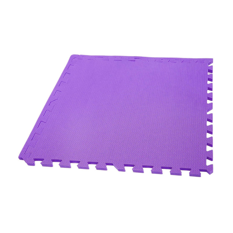 Incstores Ecoソフト+ Foamタイル(2ft X 2 Ftタイル)酷使Foam床マットwith Removableエッジ 26 Tiles, 104 Sqft + Borders パープル B07QHZPZ67