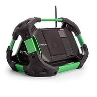 Hitachi UR18DSDL Baustellenradio 240V, schnurlos, mit DAB und Bluetooth, Grün, 1Stück