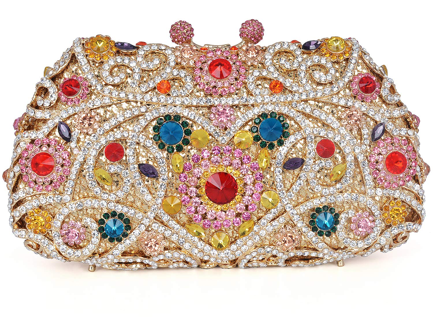 Crystal Clutch for Women Rhinestone Evening Bag (multicolor)