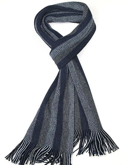 LOVARZI Bleu Echarpe pour hommes Foulard homme - Écharpes d hiver pour homme   Amazon.fr  Vêtements et accessoires 75d08fa2349