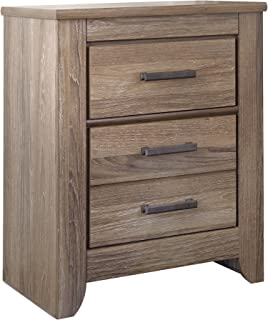 Ashley Furniture Signature Design   Zelen Nightstand   Vintage Finish    Warm Gray