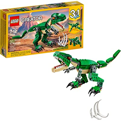 LEGO Creator Mighty Dinosaurs 31058 Build It Yourself Dinosaur Set, Create a Pterodactyl, Triceratops and T Rex Toy (174 Pieces): Toys & Games