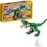 LEGO Creator Mighty Dinosaurs 31058 Build It Yourself Dinosaur Set, Create a Pterodactyl, Triceratops and T Rex Toy  (174 Pieces)
