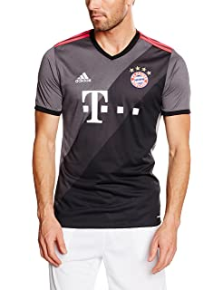 Adidas FC Bayern Munich 2016/17 Short Sleeve Away Jersey - Adult - Granite/