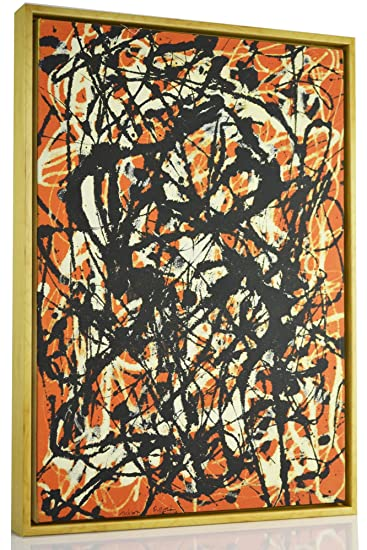 Amazon.com: FRAMED Jackson Pollock Giclee Canvas Print Paintings ...