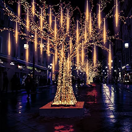 meteor lights pomelotree 50cm 10 tubes 540 led meteor shower raindrop snow falling lights upgraded