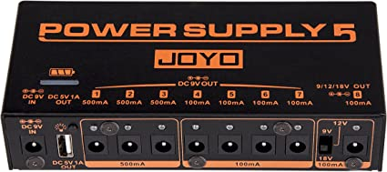 JOYO JP-05 Rechargeable Power Supply with 8 DC outputs and 1 USB output