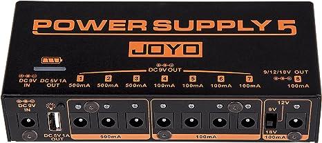 JOYO JP-05 fuente de alimentación con pedal de efectos de guitarra ...