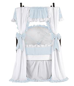 2 Piece Lavender Gingham Doll Bedding Blanket Pillow for Doll Crib Handmade NEW