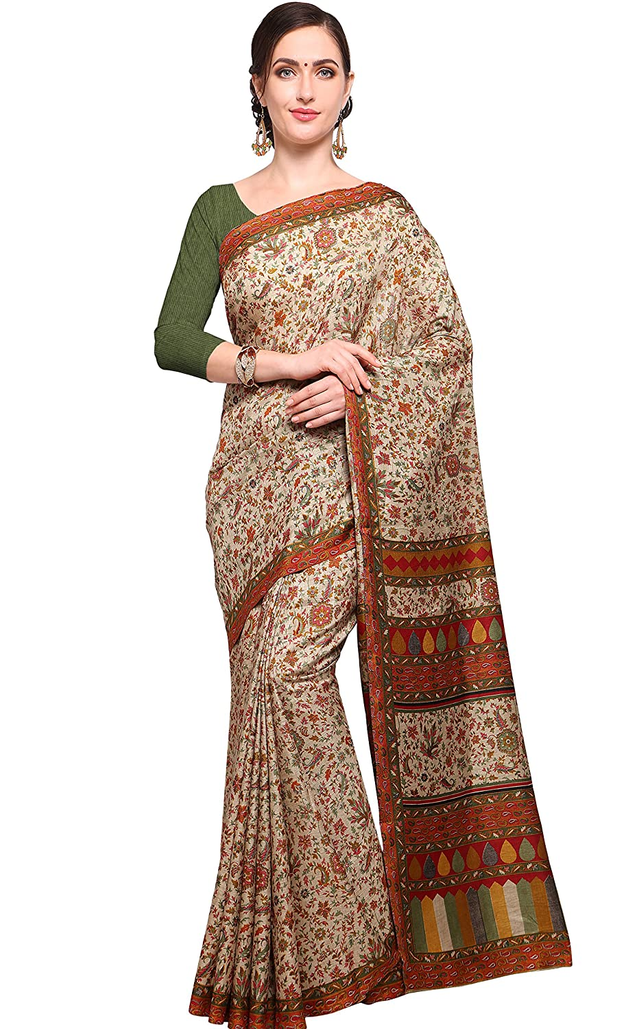 7bf2c110333ce8 EthnicJunction Cotton Saree with Blouse Piece (EJ1168-7012_Red and  Beige_Free Size): Amazon.in: Clothing & Accessories