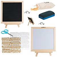 Deals on Letter Board & Dry Erase White Board 340 Letters & Symbols