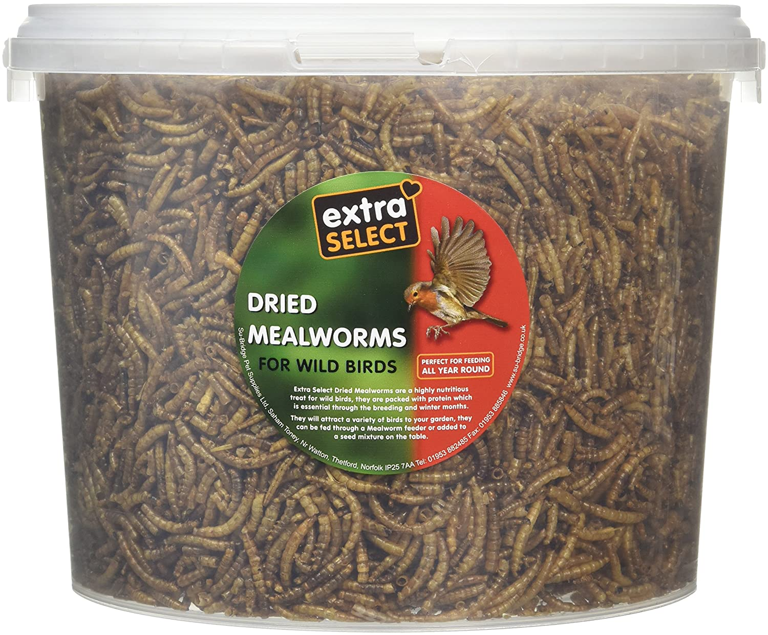 Extra Select Mealworms 3 L Tub GroceryCentre 08MW3