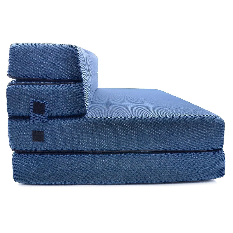 Milliard- Espuma Colchón y sofá Cama Plegable en Tres Partes 11,5 cm Sillón Cama o colchoneta - Individual (190 x 90 cm): Amazon.es: Hogar