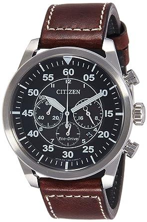 7e4bfe48f3343 Citizen Reloj Cronógrafo para Hombre de Cuarzo con Correa en Cuero  CA4210-16E  Citizen  Amazon.es  Relojes