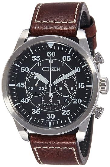 100% autentico 72a3b 32c90 Citizen Orologio Cronografo Quarzo Uomo con Cinturino in Pelle CA4210-16E