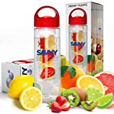 Amazon Price History for:Savvy Infusion Water Bottle - 24 Oz - Create Your Own Naturally Flavored Fruit Infused Water, Juice, Iced Tea, Lemonade & Sparkling Beverages - Choice of Dazzling Infuser Colors