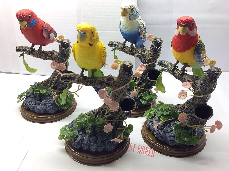 Beautiful Talking Parrot  Bird Voice Sound Recorder PEN Holder Toy Uk