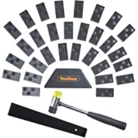 VonHaus Laminate Wood Flooring Installation Kit with 30 Spacers, Tapping Block, Pull Bar and Hard Rubber Mallet - Home…