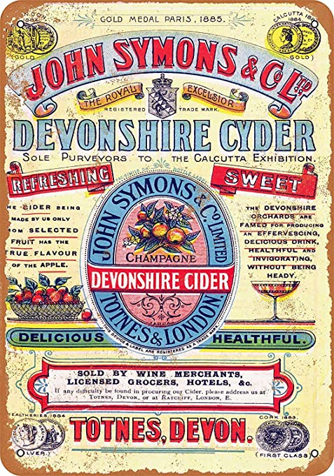 HiSign Devonshire Cyder Retro Cartel de Chapa Coffee Póster ...