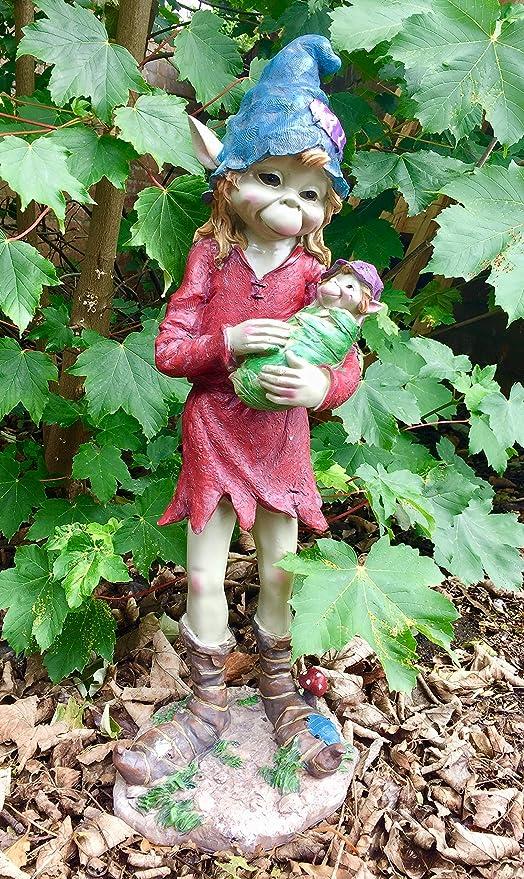 Adorno de peluche grande para decoración de jardín de bebé, decoración de duende, 66 cm: Amazon.es: Jardín