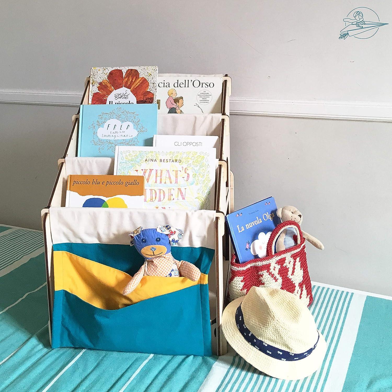 Montessori - Estantería para niños con diseño de casa de ...
