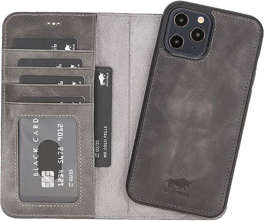 Solo Pelle Lederhülle Kompatibel Für Iphone 12 Pro Max Elektronik