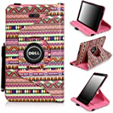 Dell Venue 8 Pro Case, E LV Dell Venue 8 Pro Case Cover 360 rotating Lightweight case for Venue 8 Pro 32GB 64GB Tablet (Windows Tablet) (will only fit Dell Venue 8 Pro tablet) (Colorful Tribal)