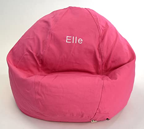 Wondrous Bean Bag Chair Kid Size Personalized Embroidered Comfy Bean Pink Creativecarmelina Interior Chair Design Creativecarmelinacom