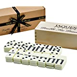 Dominoes Set - Jaques Domino Child And Adults Game - Double Six Dominos Set Club In Wooden Sliding Lid Box