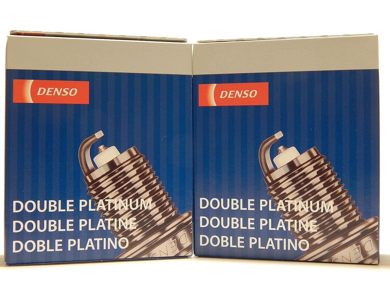 8 Pcs * NUEVO * - -denso # 3128 - -Doble Platinum Bujías - -PK20R11: Amazon.es: Coche y moto