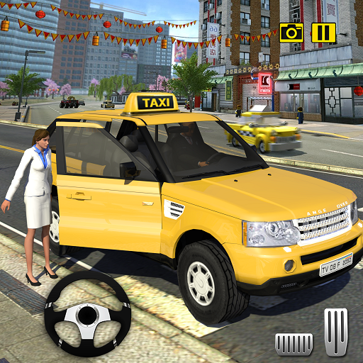 Crazy Taxi Driving Simulator 2018: NY City Cab Taxi Driver Games - Futuristic Girl