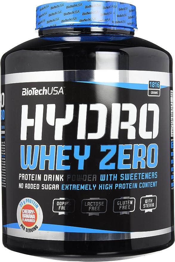 BioTech Hydro Whey Zero Proteínas Sabor Cherry y Banana - 1816 gr