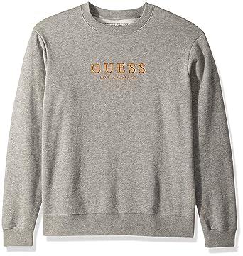 01a5de10 GUESS Men's Long Sleeve Roy Oversized Crew Neck Shirt at Amazon Men's  Clothing store: