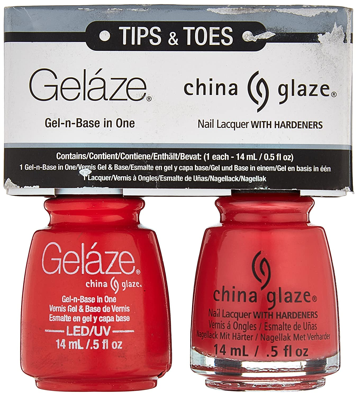 Amazon.com : China Glaze Gelaze Tips and Toes Nail Polish, High ...