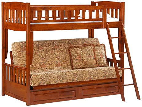 night  u0026 day furniture cinnamon futon bunk cherry finish amazon    night  u0026 day furniture cinnamon futon bunk cherry      rh   amazon