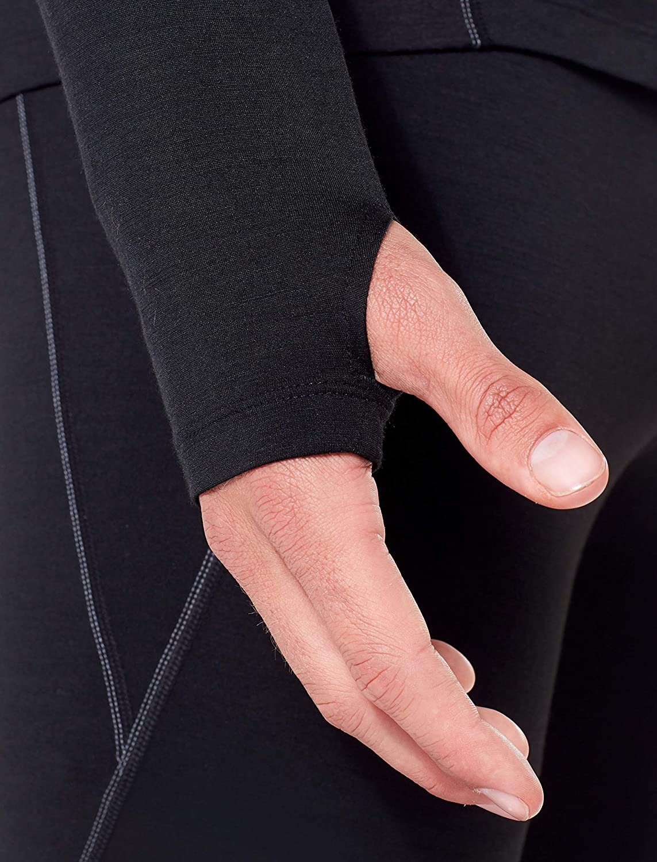 Icebreaker Merino Zone Lightweight Base Layer Long Sleeve Crew Neck Shirt New Zealand Merino Wool