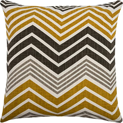 Rizzy Home T08044 Decorative Pillow, 18 X18 , Yellow