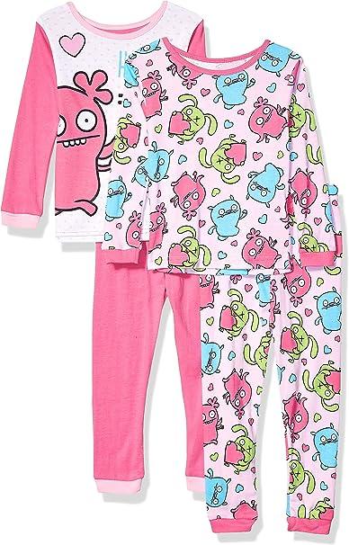 Carters Baby Girls 2-Piece Cotton /& Fleece PJs Bedtime Stories Dog Pink 24M