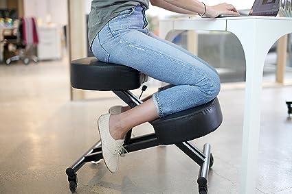 Superieur Sleekform Kneeling Posture Chair | Adjustable Ergonomic Office Stool With  Rollerblade Wheels For Computer Work,