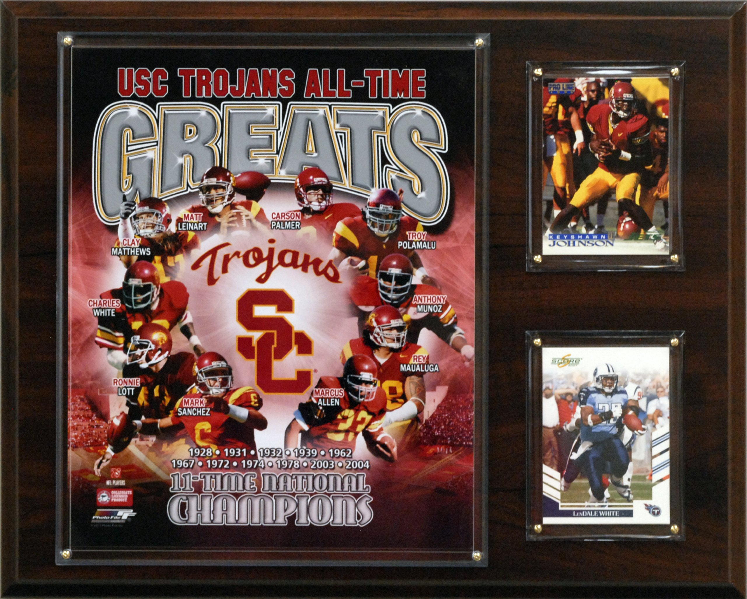 NCAA Football USC Trojans All-Time Greats Photo Plaque