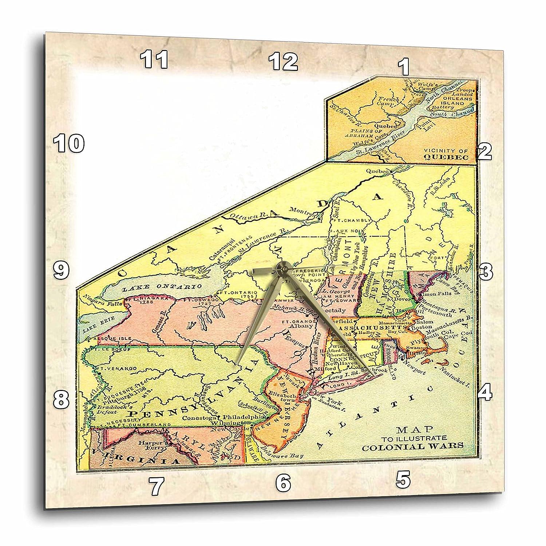 15 by 15-Inch 3dRose dpp/_44987/_3 Original Colonies Map-Wall Clock