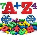 Magnetic letters - Magnetic numbers - Alphabet magnets - Alphabet letters - ABC magnets - Letter magnets - SET of 67- Foam letters number magnets for kids - Magnetic fridge - Magnetic 123 ALPHABET
