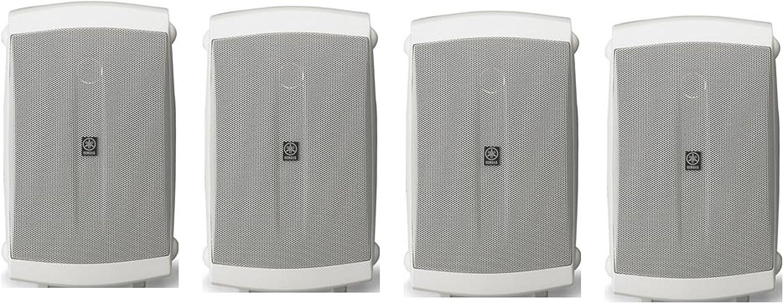 Yamaha High-Performance 130 Watt Natural Surround Sound 2-Way Indoor/Outdoor Weatherproof Home Theater Speakers (Set of 4)